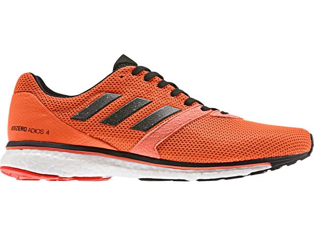 adidas Adizero Adios 4 Zapatillas Hombre, solar orange/core black/hi-res coral
